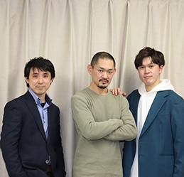 ミュージカル俳優 藍         実成さん、大塚庸介さん、吉田 雄さん